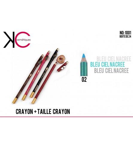 Crayon + Taille crayon bleu 02