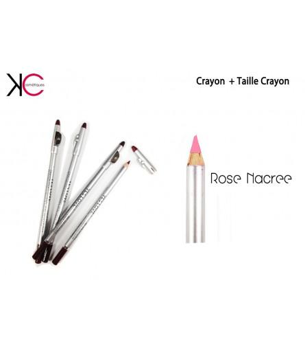 Crayon + Taille Crayon 2en1 YesLove Rose Nacré