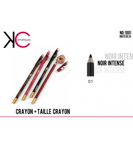 CRAYON + TAILLE CRAYON YES LOVE NOIR 1001